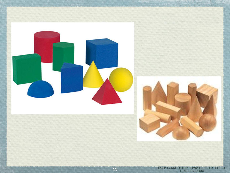54 Consignes de jeu : Un élève met la main dans le sac et choisit un objet (figure ou solide) quil ne montre pas.