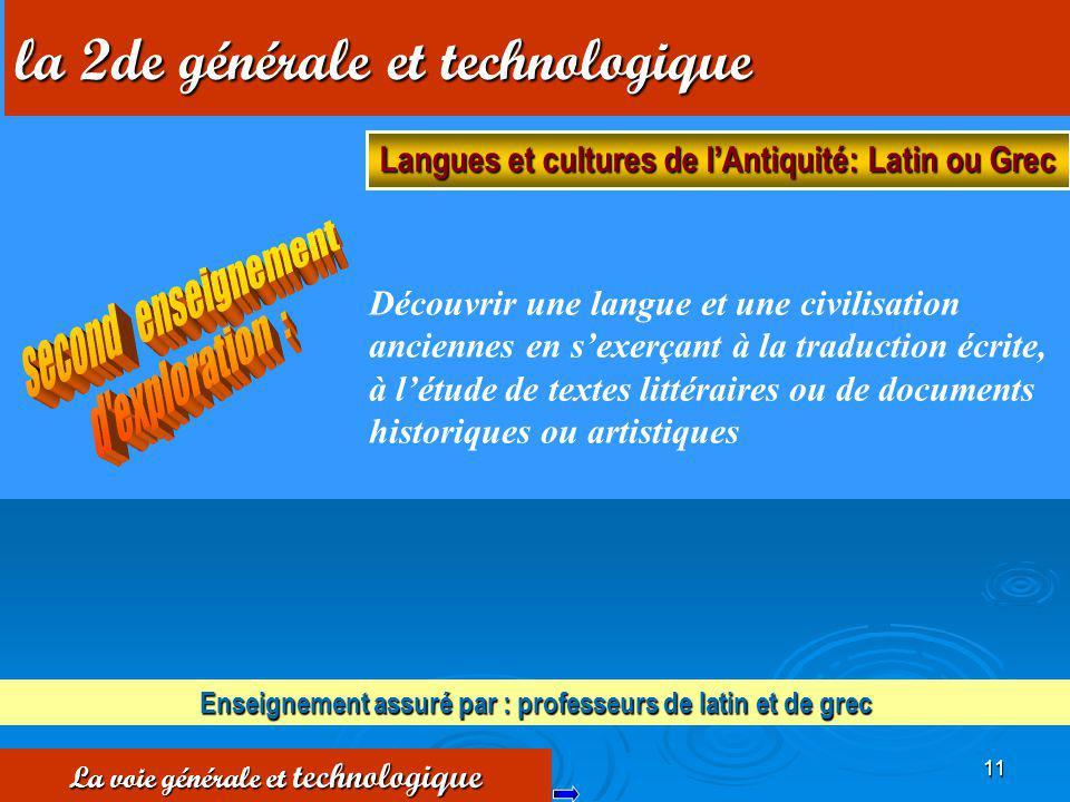11 Découvrir une langue et une civilisation anciennes en sexerçant à la traduction écrite, à létude de textes littéraires ou de documents historiques