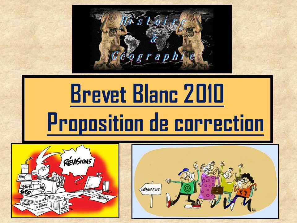 Brevet Blanc 2010 Proposition de correction
