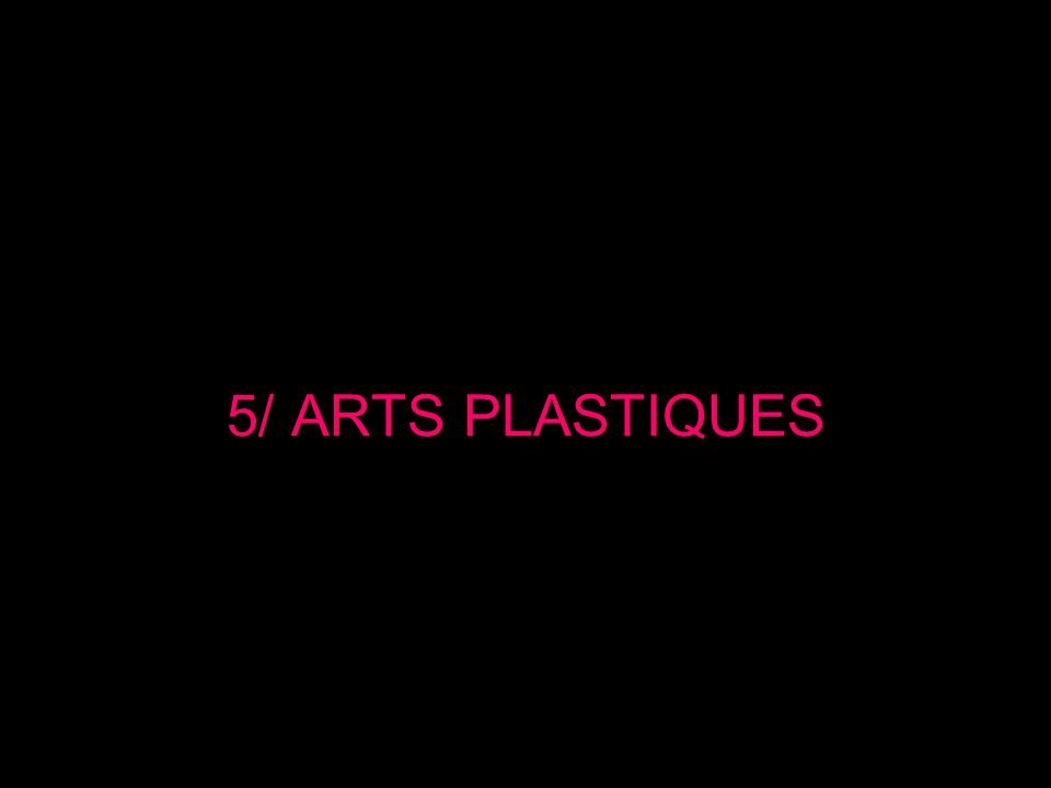 5/ ARTS PLASTIQUES