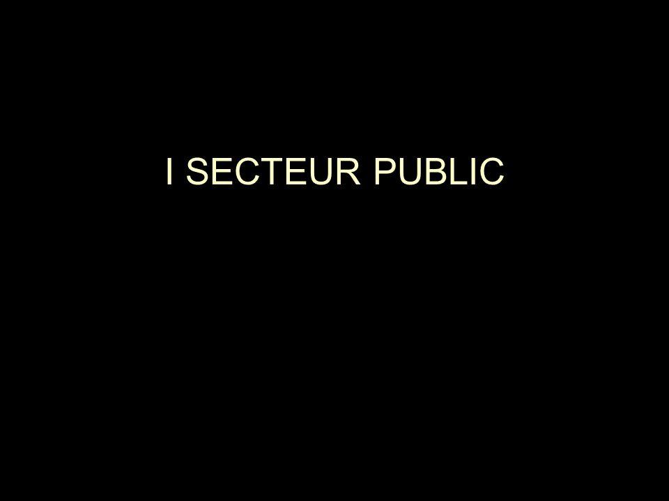 I SECTEUR PUBLIC