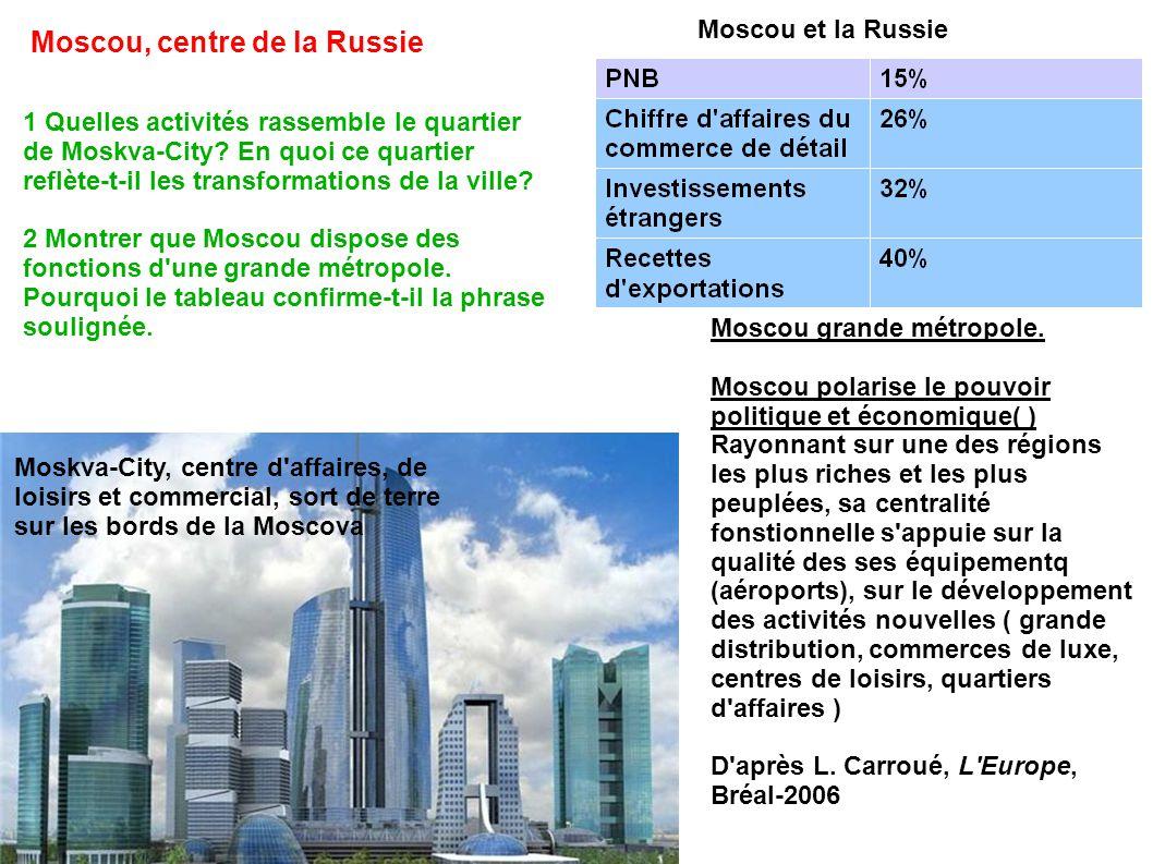 Moscou, centre de la Russie Moskva-City, centre d affaires, de loisirs et commercial, sort de terre sur les bords de la Moscova Moscou et la Russie Moscou grande métropole.