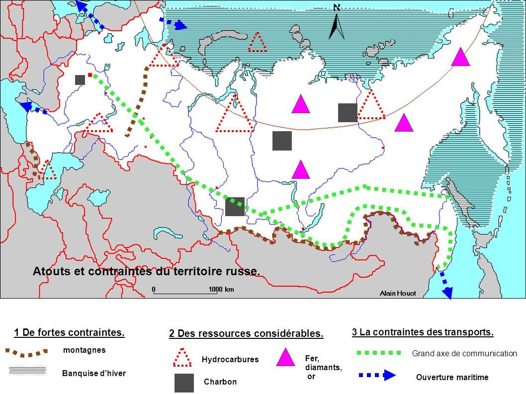 Atouts et contraintes du territoire russe. 1 De fortes contraintes.
