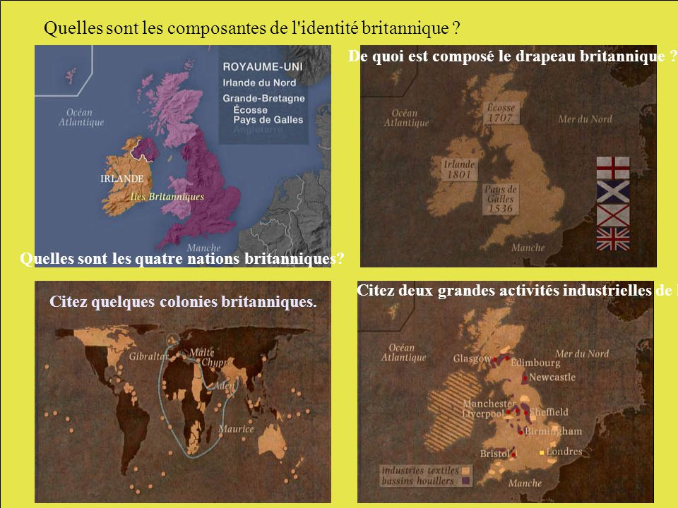 Quelles sont les composantes de l identité britannique .