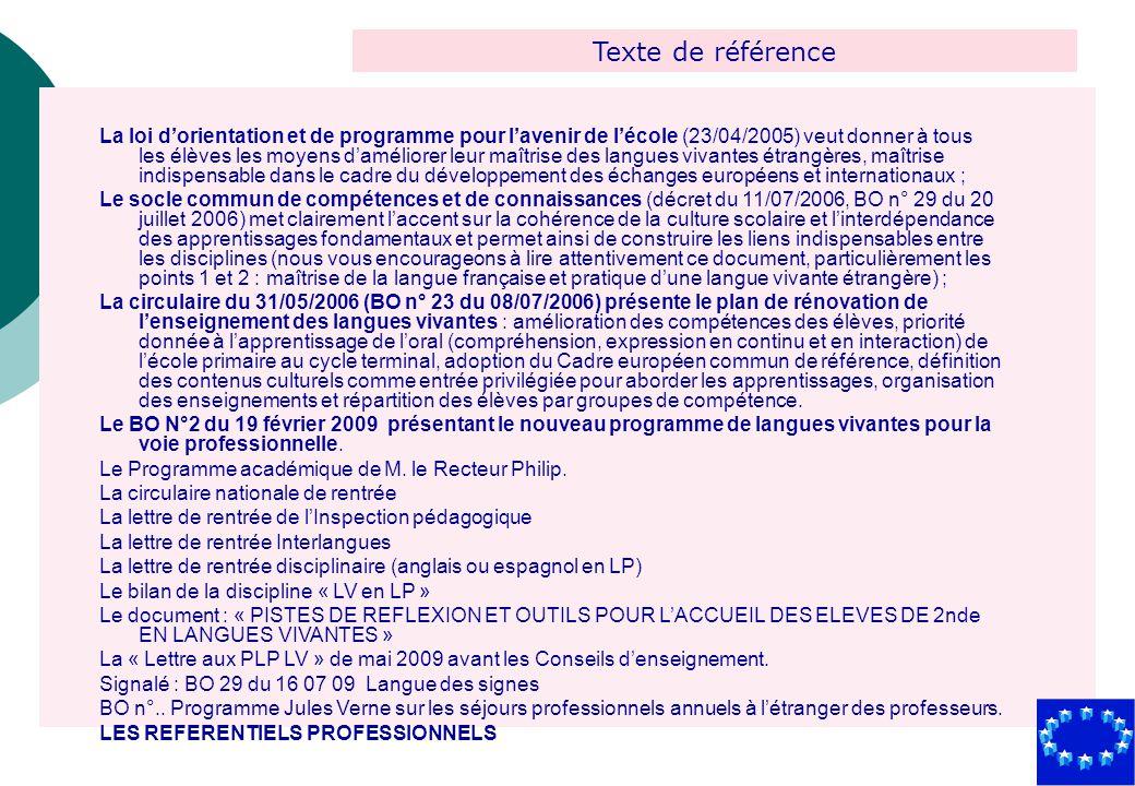 Texte de référence La loi dorientation et de programme pour lavenir de lécole (23/04/2005) veut donner à tous les élèves les moyens daméliorer leur ma