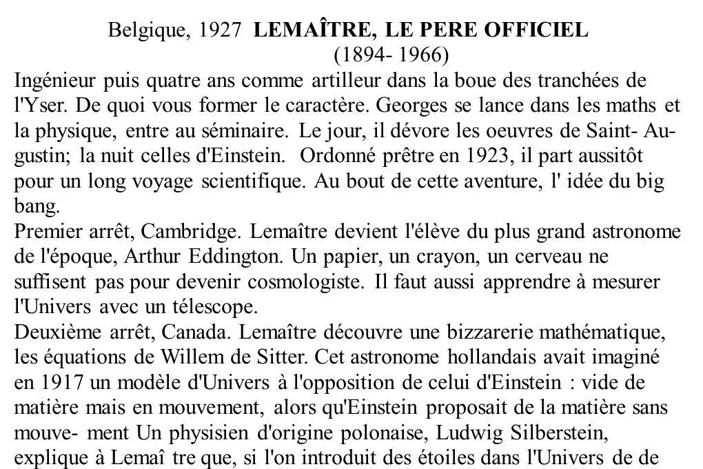 Belgique, 1927 LEMAÎTRE, LE PERE OFFICIEL (1894- 1966) Ingénieur puis quatre ans comme artilleur dans la boue des tranchées de l'Yser. De quoi vous fo