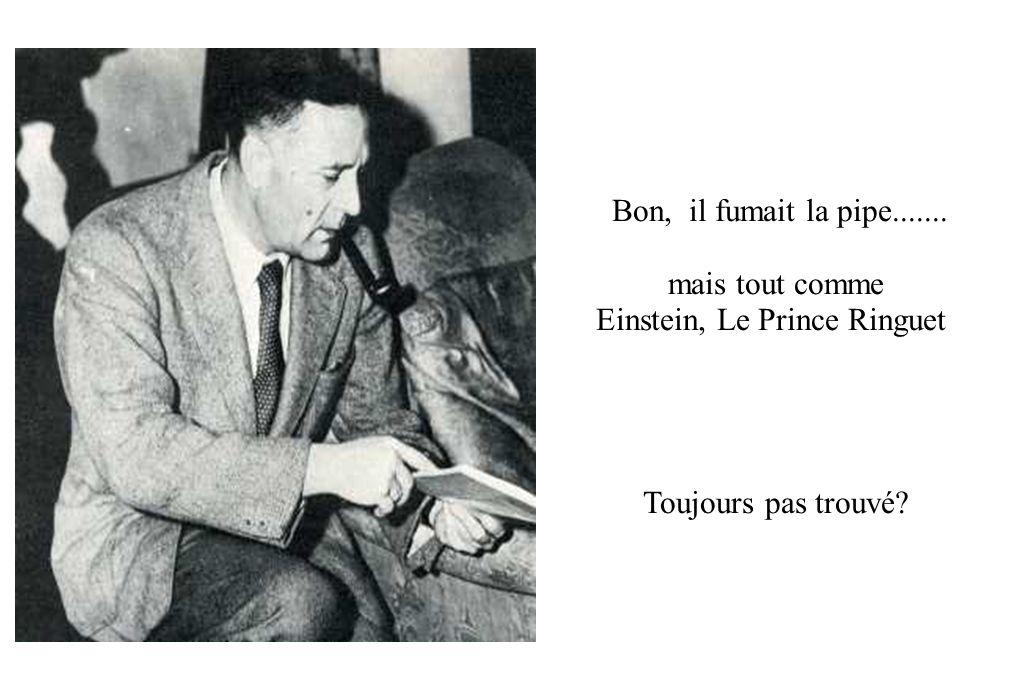 Bon, il fumait la pipe....... mais tout comme Einstein, Le Prince Ringuet Toujours pas trouvé?