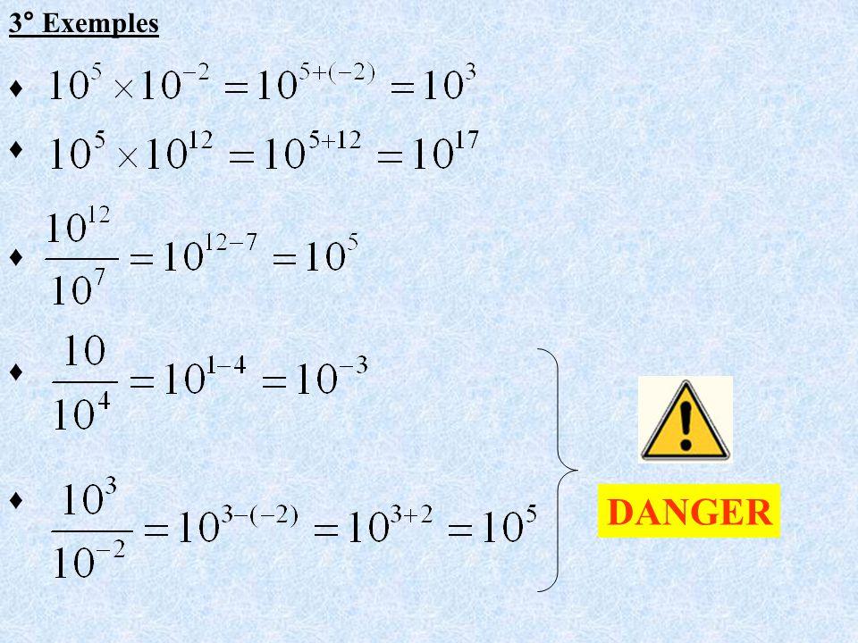 3° Exemples DANGER
