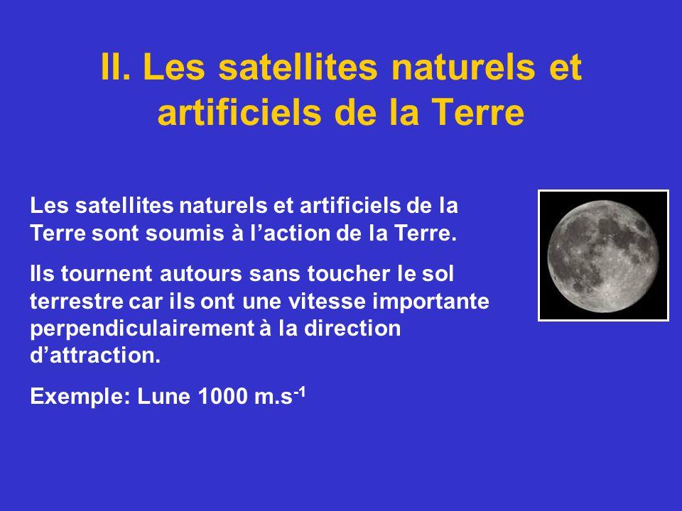 II. Les satellites naturels et artificiels de la Terre Les satellites naturels et artificiels de la Terre sont soumis à laction de la Terre. Ils tourn