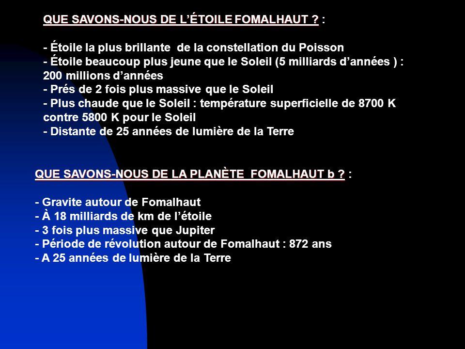 QUE SAVONS-NOUS DE LÉTOILE FOMALHAUT .