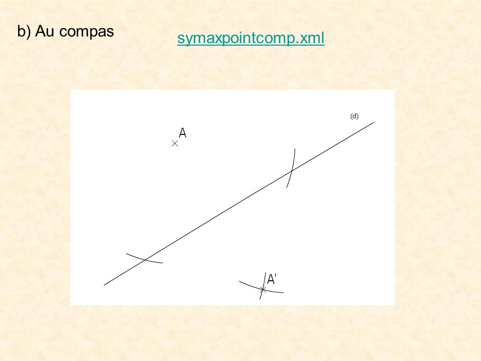 symaxpointcomp.xml b) Au compas