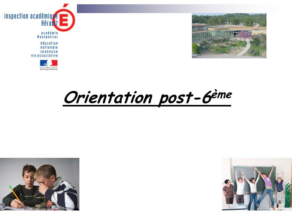 Orientation post-6 ème