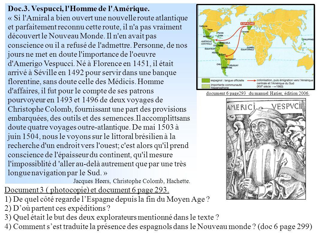 Doc.3. Vespucci, l Homme de l Amérique.