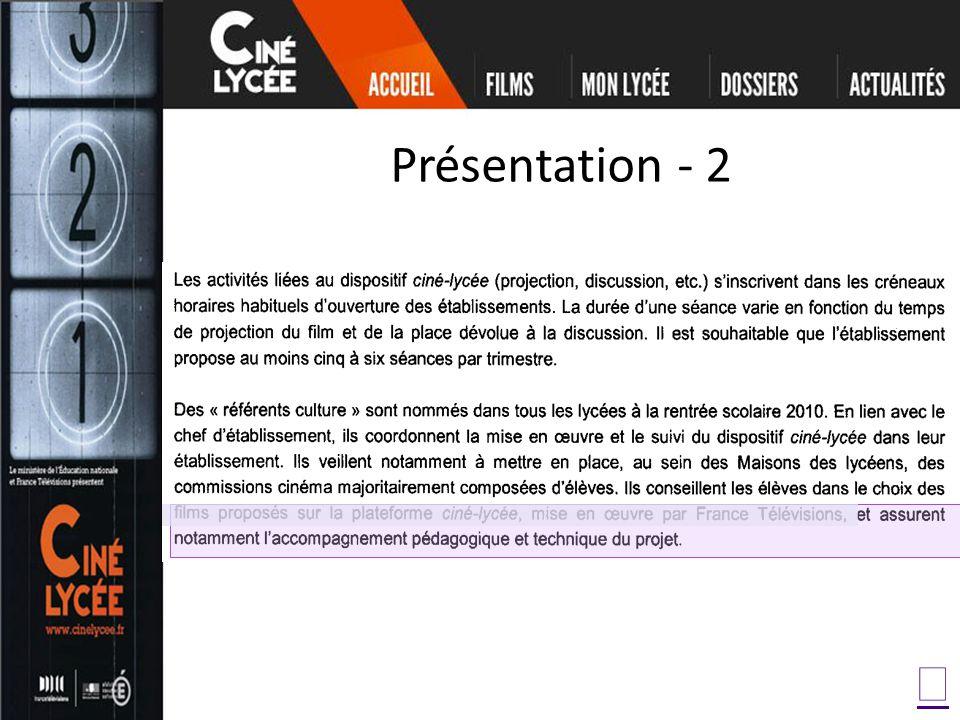 Présentation - 2