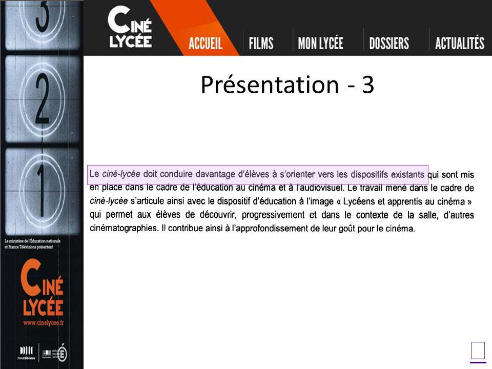 Présentation - 3