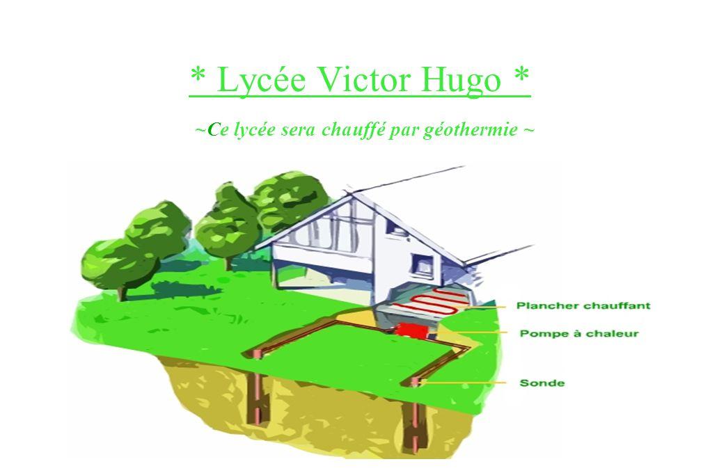 * Lycée Victor Hugo * Le mur drapeau que l'on peut voir sur cette photo sert à indiquer l'entrée du lycée. C'est un lycée mixte pour 1600 élèves avec