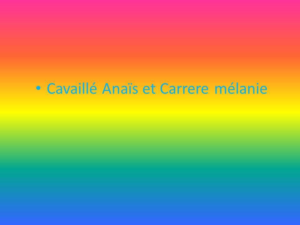 Cavaillé Anaïs et Carrere mélanie