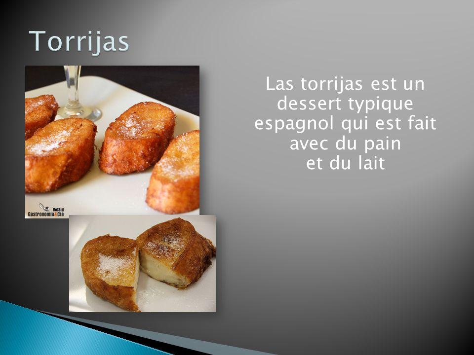 Las torrijas est un dessert typique espagnol qui est fait avec du pain et du lait
