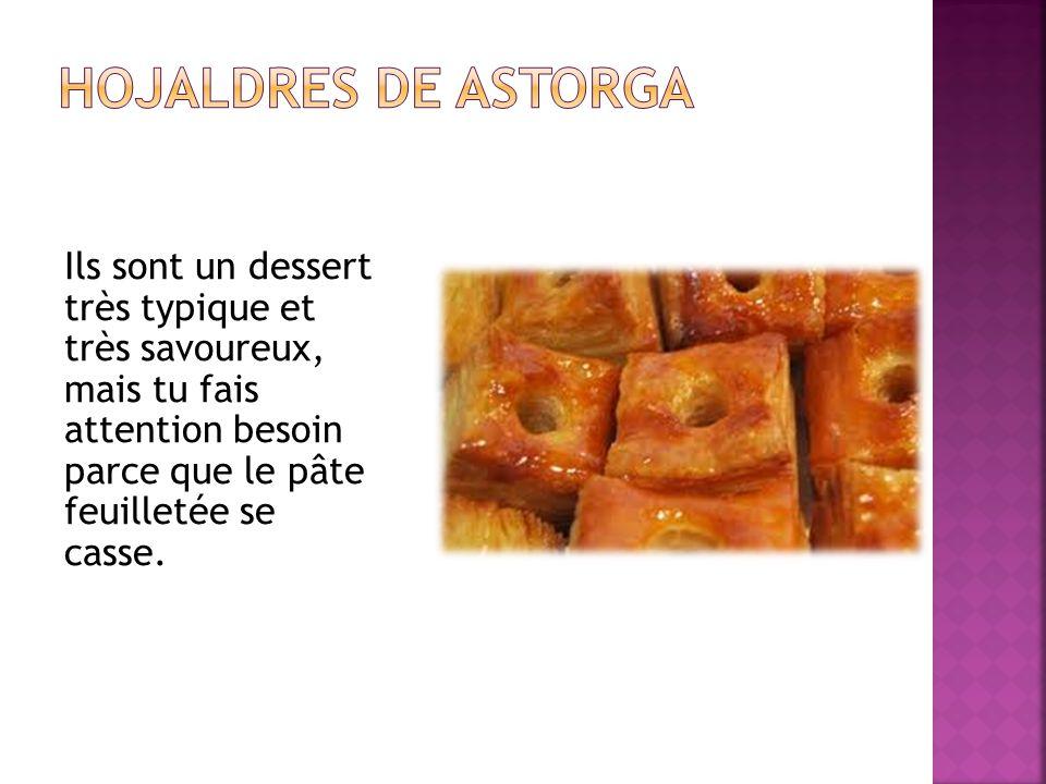 Ils sont un dessert très typique et très savoureux, mais tu fais attention besoin parce que le pâte feuilletée se casse.