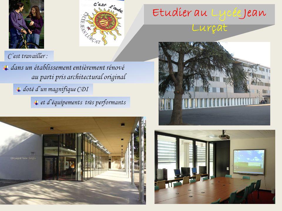 Etudier au Lycée Jean Lurçat dans un établissement entièrement rénové au parti pris architectural original doté dun magnifique CDI et déquipements trè
