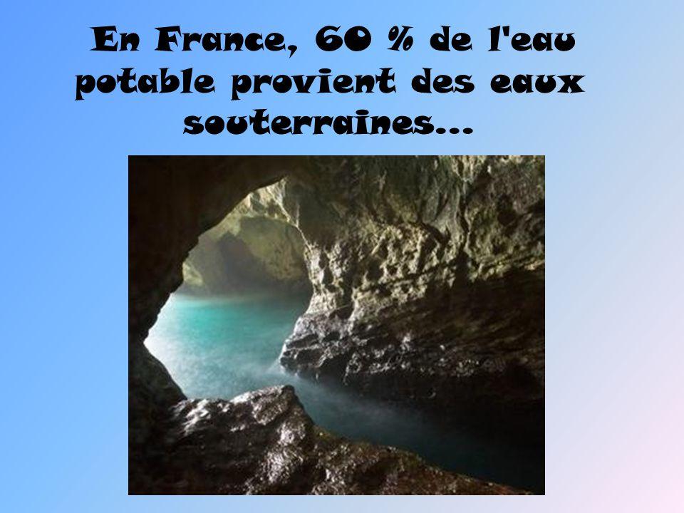 En France, 60 % de l'eau potable provient des eaux souterraines…