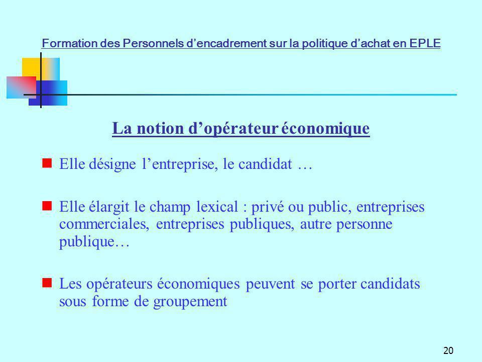 20 Elle désigne lentreprise, le candidat … Elle élargit le champ lexical : privé ou public, entreprises commerciales, entreprises publiques, autre per