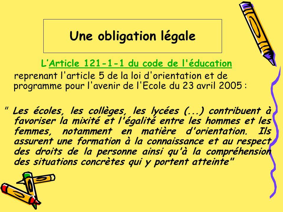 LArticle 121-1-1 du code de l'éducationArticle 121-1-1 du code de l'éducation reprenant l'article 5 de la loi d'orientation et de programme pour l'ave
