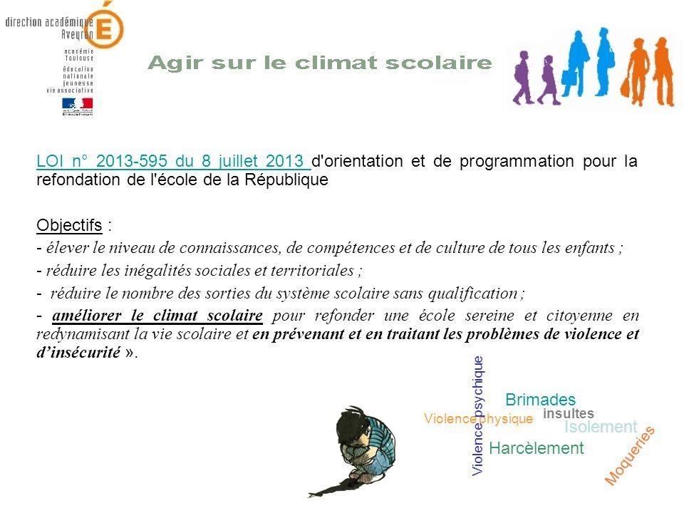 LOI n° 2013-595 du 8 juillet 2013 LOI n° 2013-595 du 8 juillet 2013 d'orientation et de programmation pour la refondation de l'école de la République