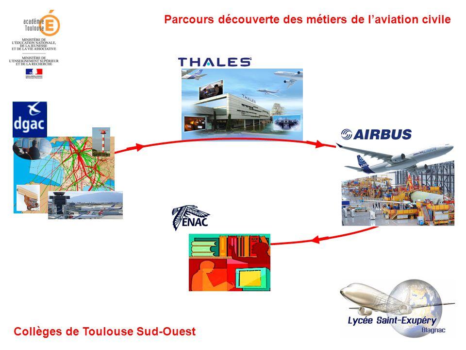 Parcours découverte des métiers de laviation civile Collèges de Toulouse Sud-Ouest