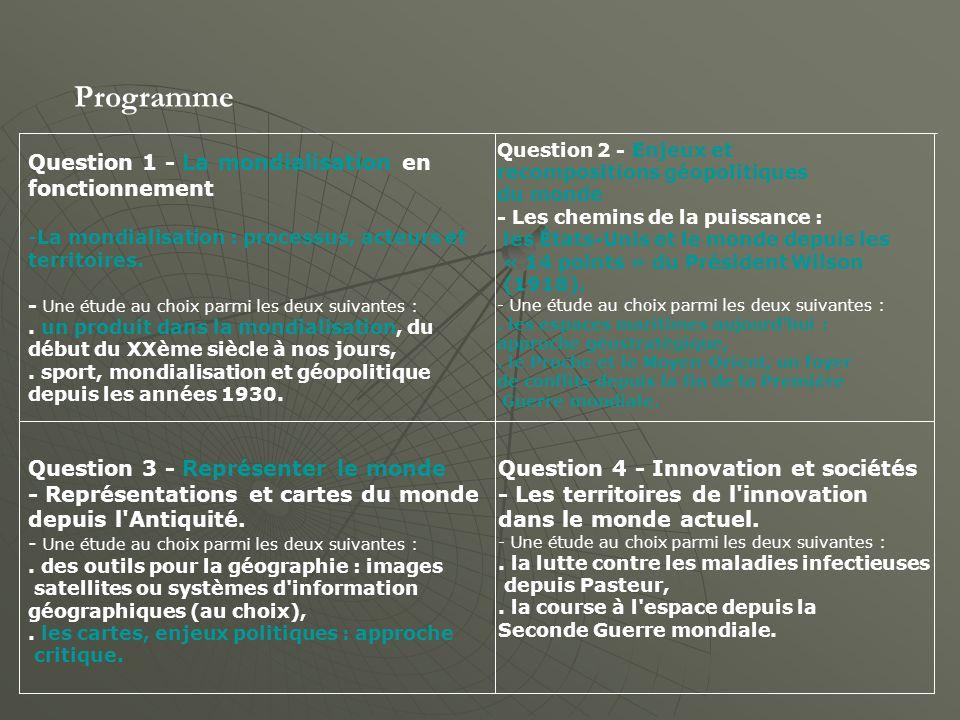 Fiches ressources Question 1 - La mondialisation en fonctionnement -La mondialisation : processus, acteurs et territoires.