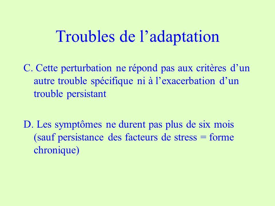 Troubles de ladaptation C.