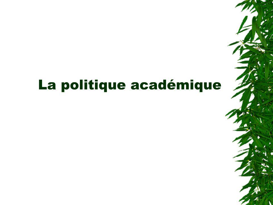 La politique académique