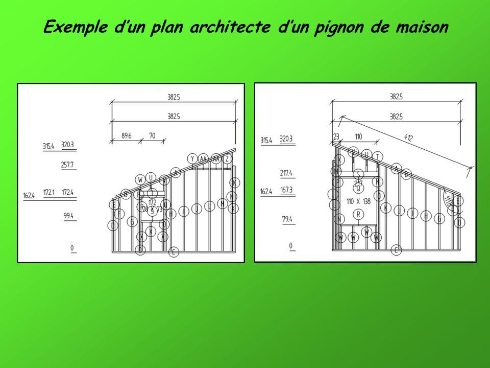 Exemple dun plan architecte dun pignon de maison