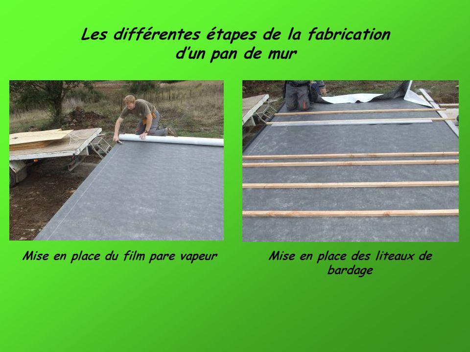 Les différentes étapes de la fabrication dun pan de mur Mise en place du pan de mur