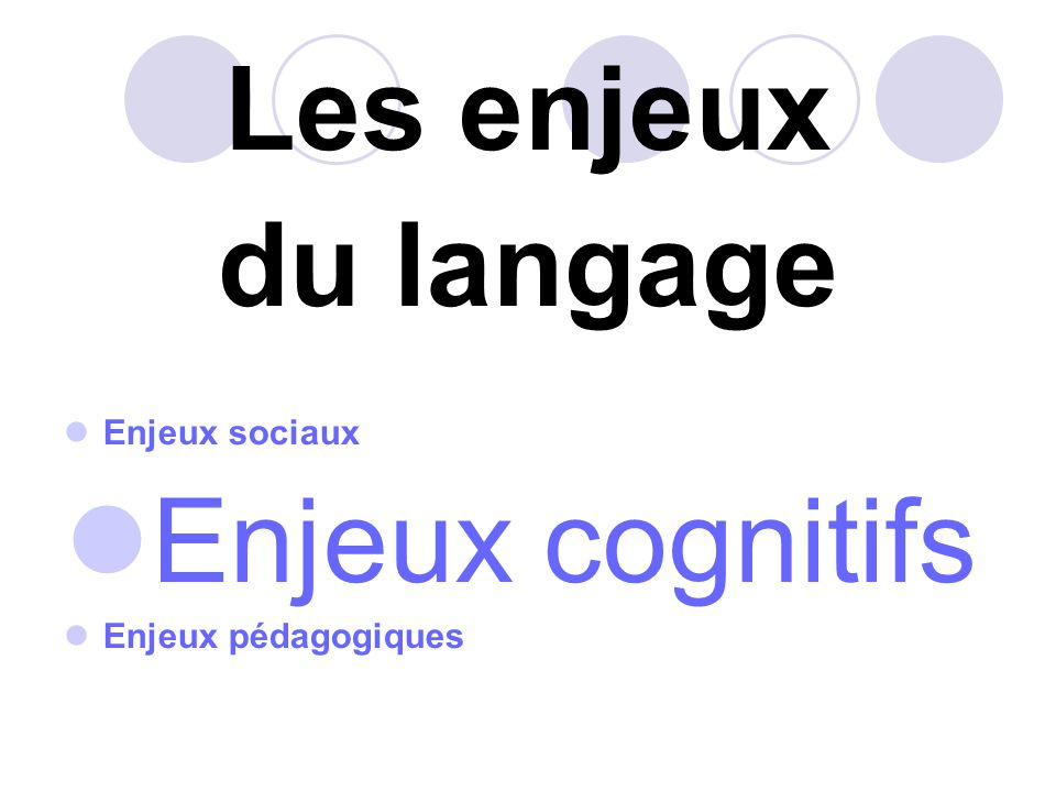 Rapports entre langage et pensée Le développement du langage et celui de la pensée sont indissociables.