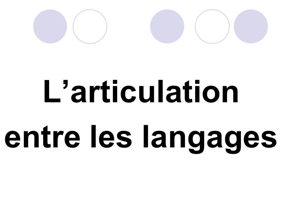 Larticulation entre les langages