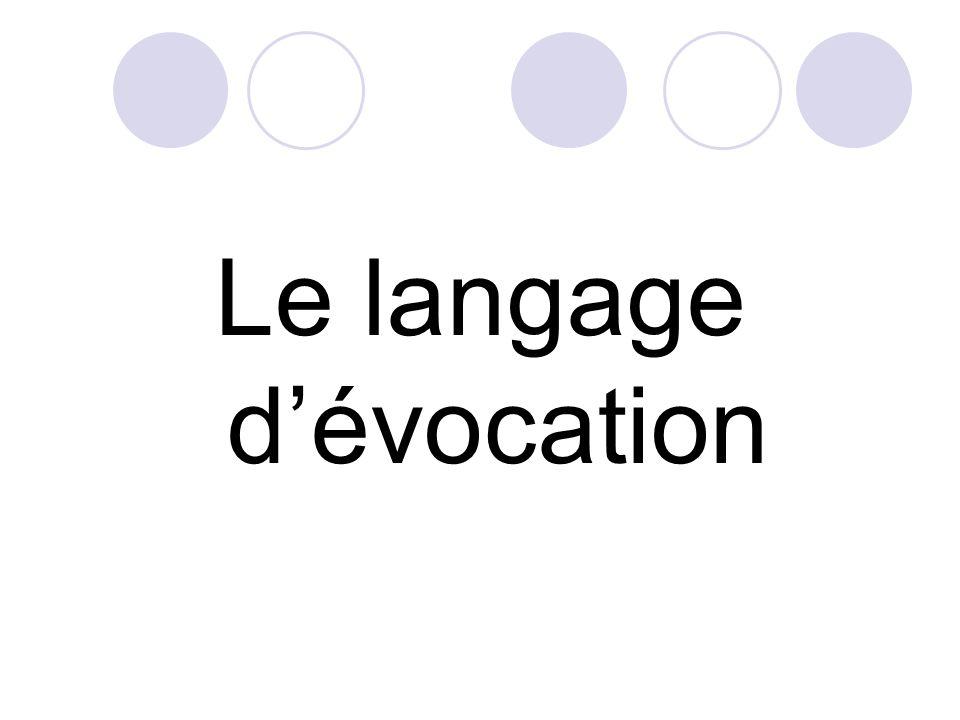 Le langage dévocation