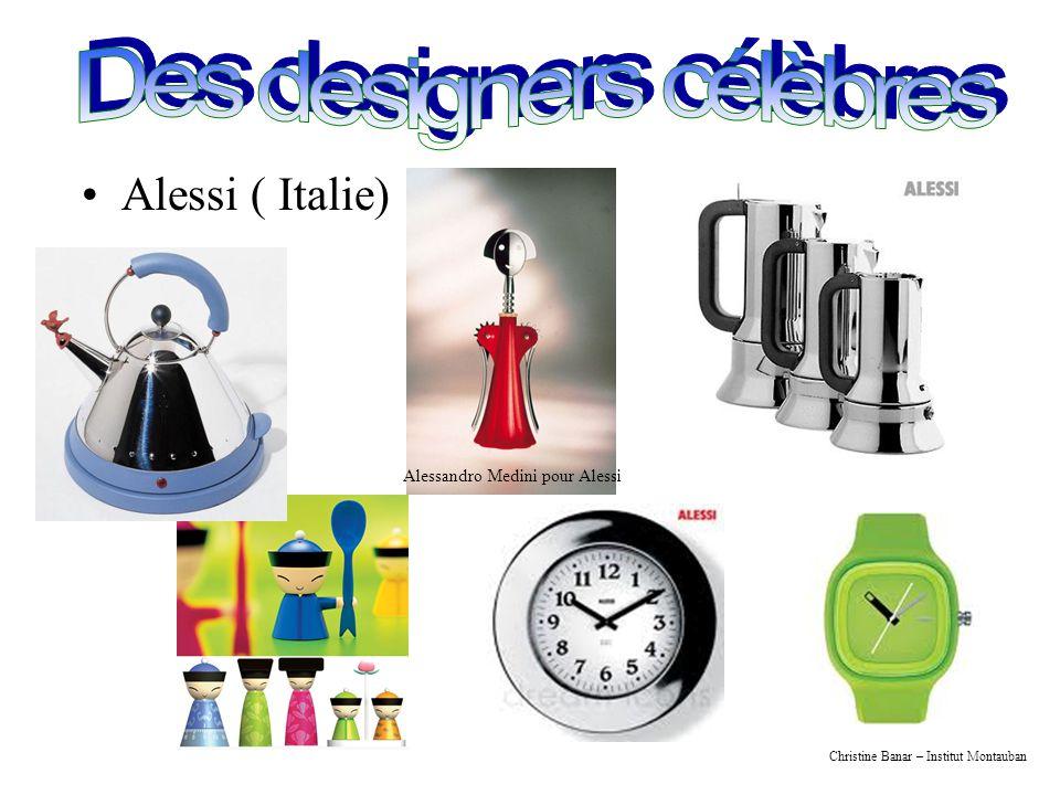 Christine Banar – Institut Montauban Alessi ( Italie) Alessandro Medini pour Alessi