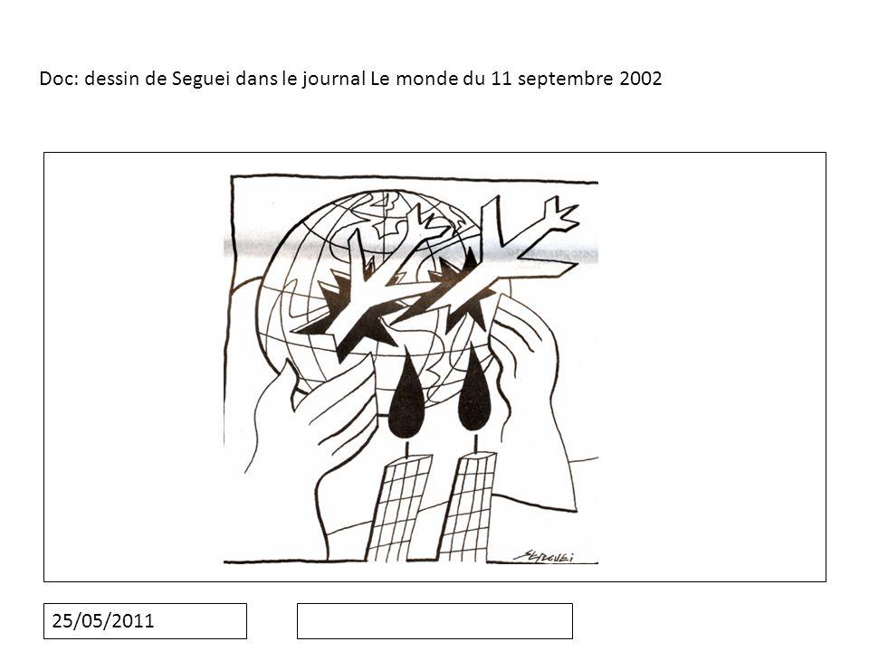 25/05/2011 Doc: dessin de Seguei dans le journal Le monde du 11 septembre 2002