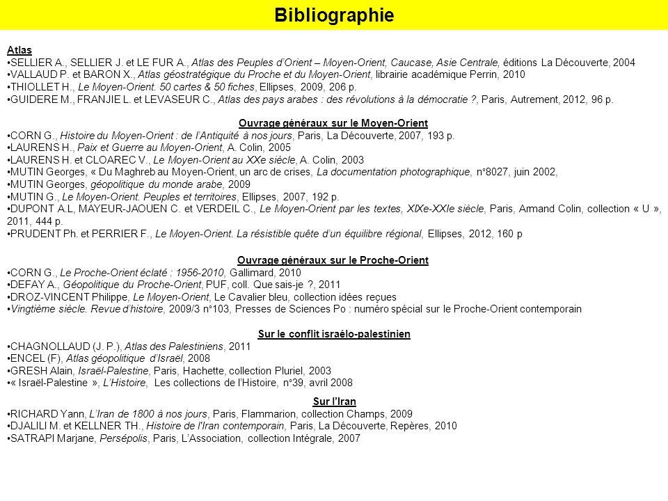 Bibliographie Atlas SELLIER A., SELLIER J.