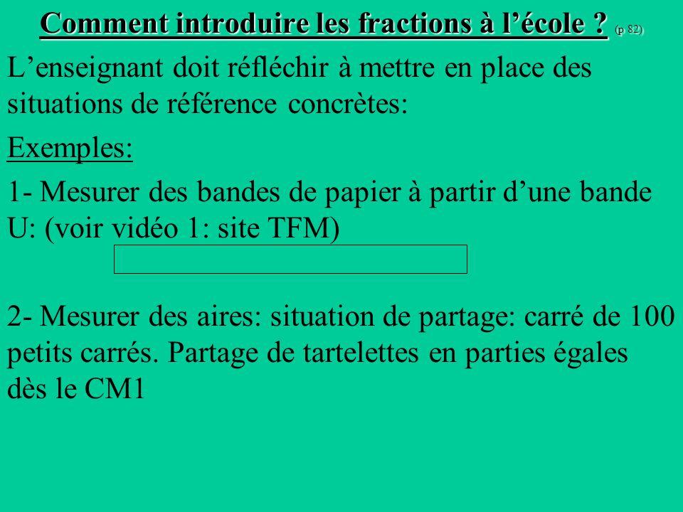 Comment introduire les fractions à lécole .