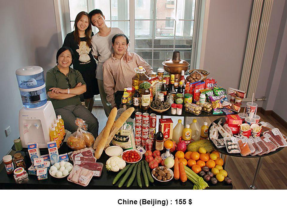 Chine (Beijing) : 155 $