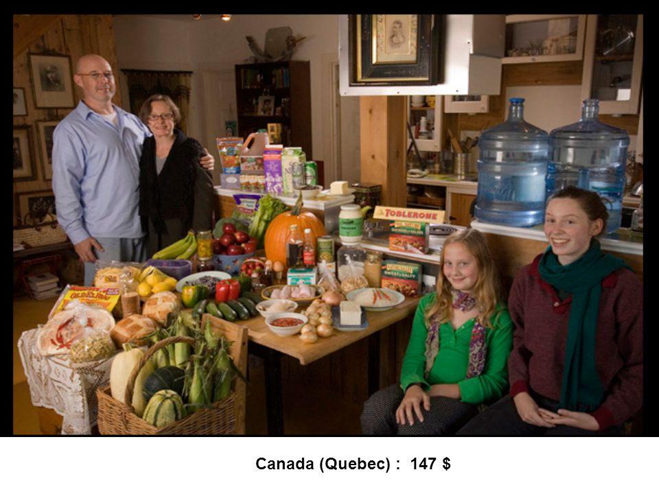 Canada (Quebec) : 147 $
