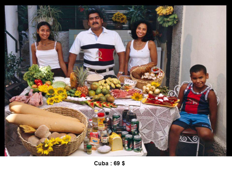 Cuba : 69 $