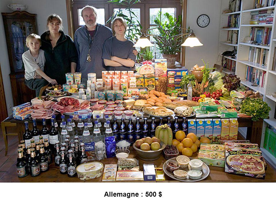 Allemagne : 500 $