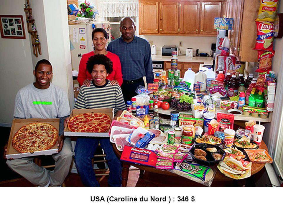 USA (Caroline du Nord ) : 346 $
