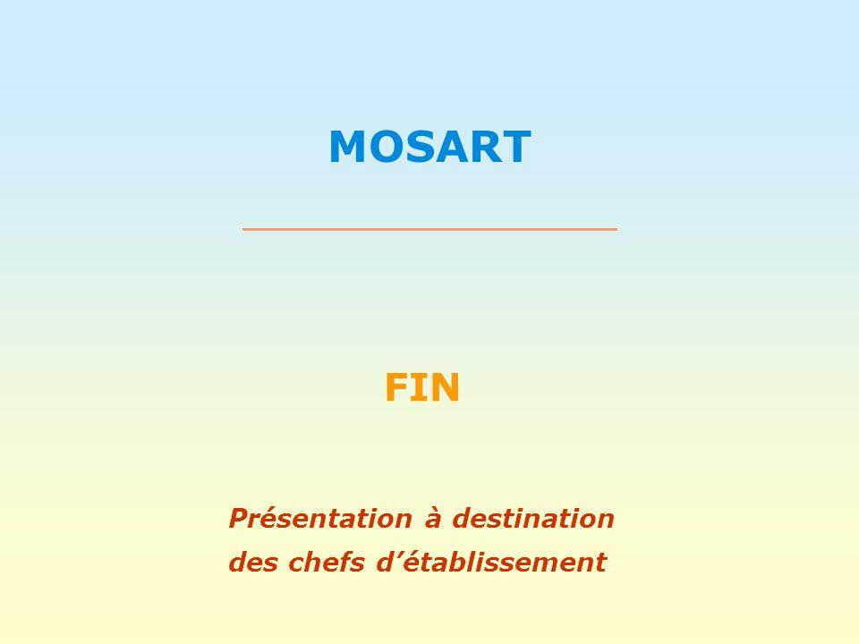 MOSART FIN Présentation à destination des chefs détablissement