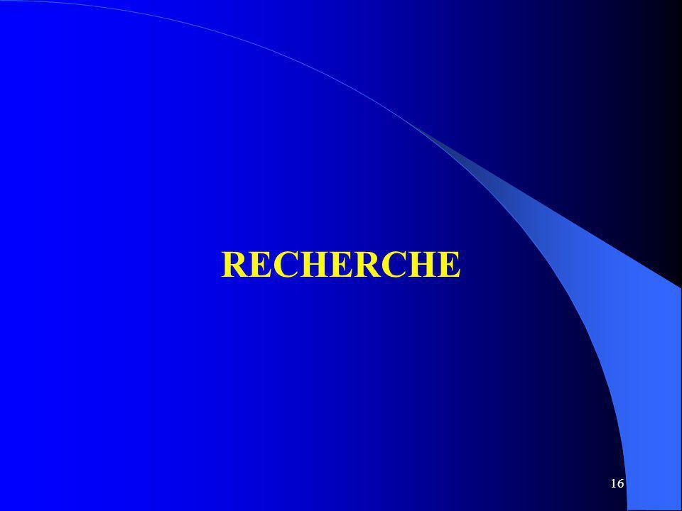 16 RECHERCHE