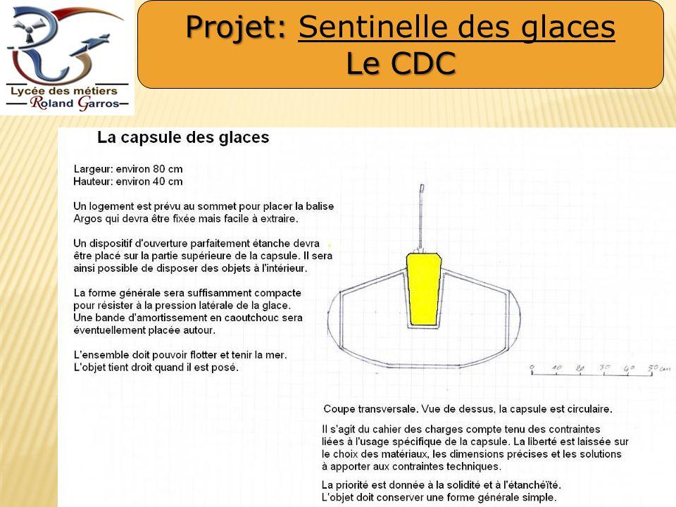 Projet: Projet: Sentinelle des glaces Le CDC