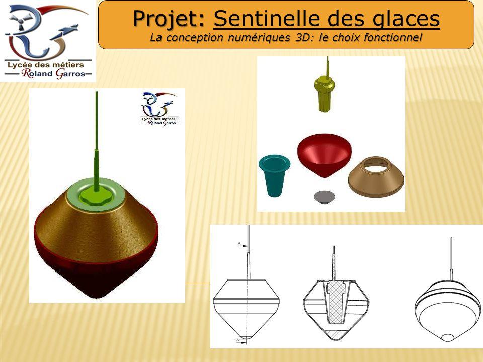 Projet: Projet: Sentinelle des glaces La conception numériques 3D: le choix fonctionnel